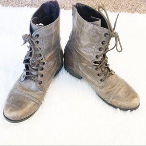 Steve Madden Combat Boots Grey